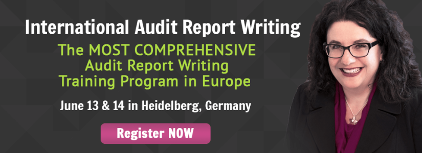 Change Your Approach to Audit Report Writing